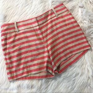 Loft Pink and Cream Rivera Shorts